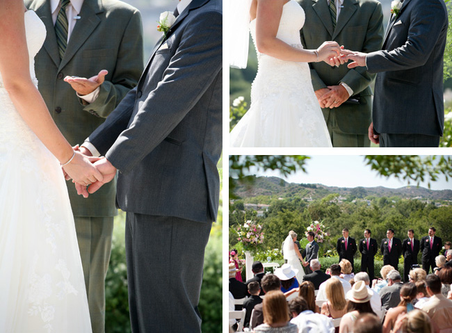 Coto de Caza Golf & Racquet Club outdoor wedding ceremony