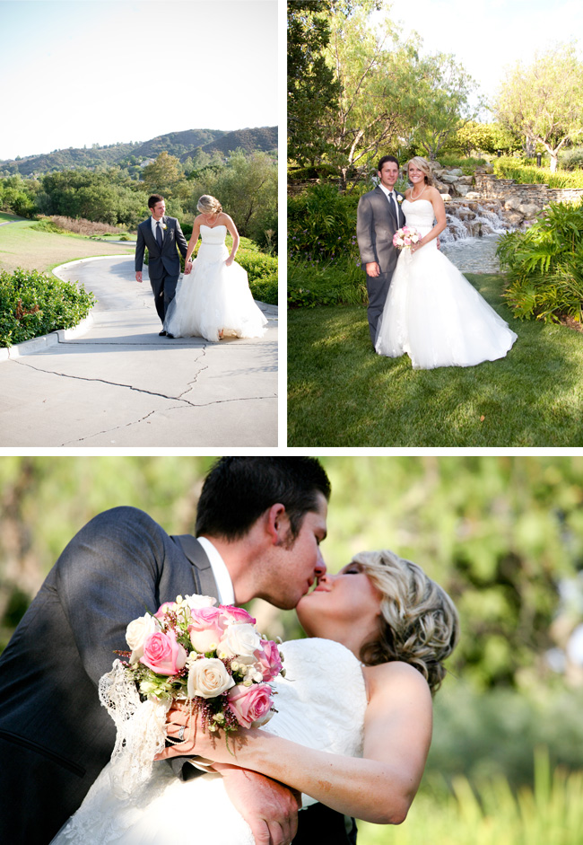 Bride and groom Coto de Caza Country Club Wedding
