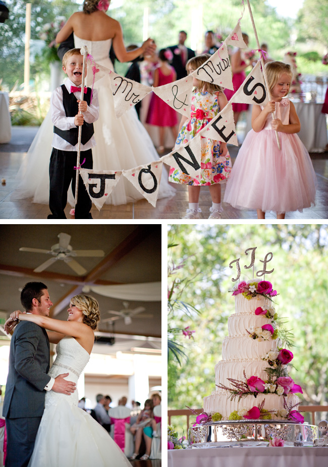 Cute wedding kids holding Mr & Mrs sign