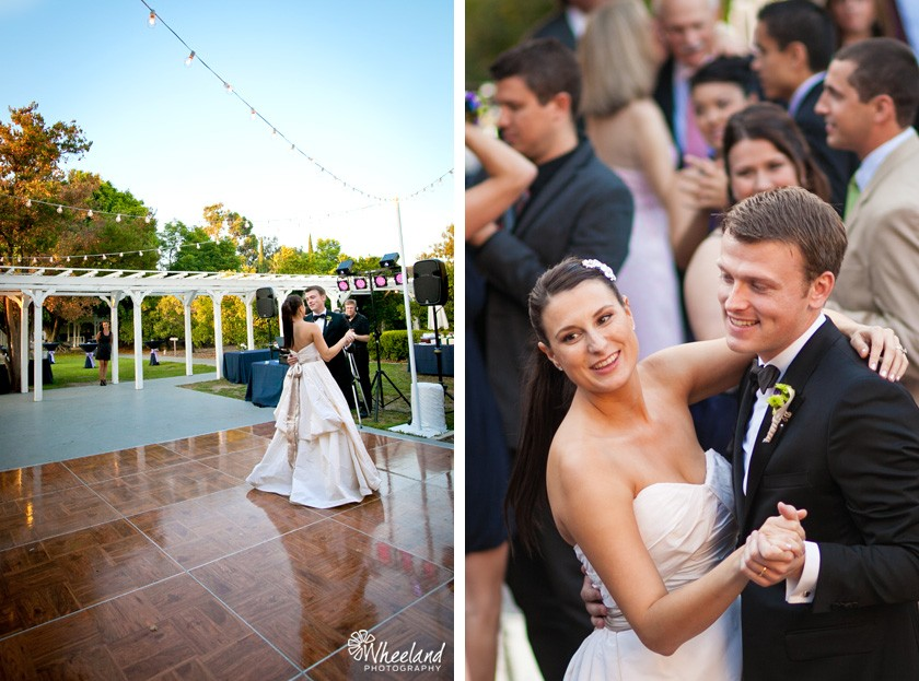 Outdoor Wedding Reception Orange County Heritage