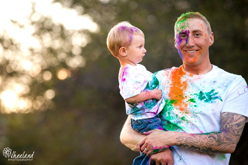 Powdered Paint with Children