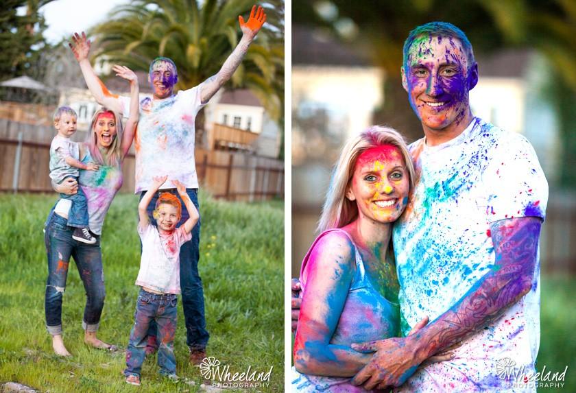 Family Paint Photoshoot