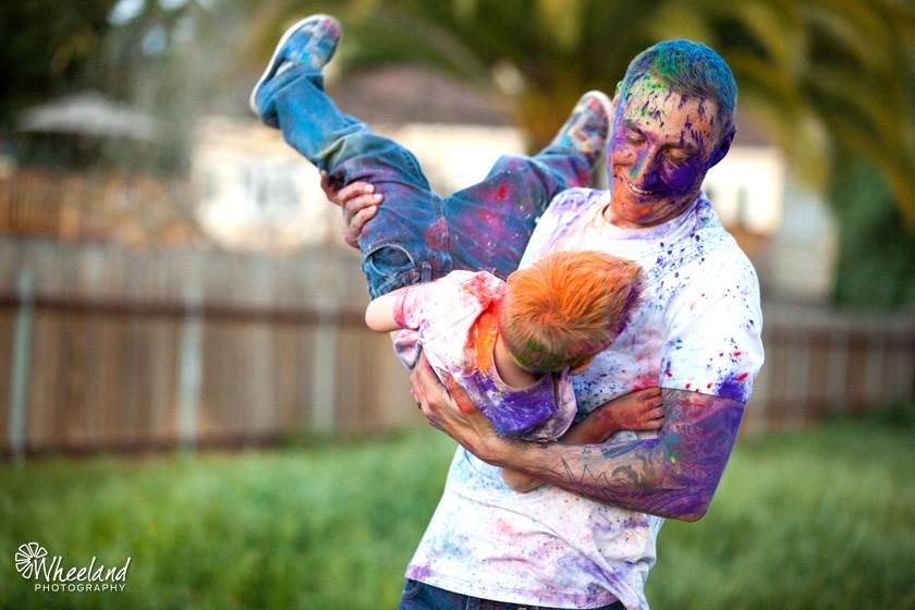 India Powdered Paint Children