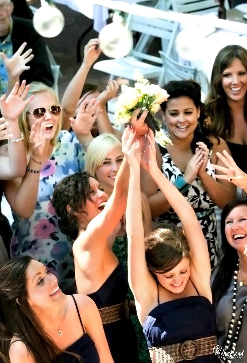 Catalina Island Wedding Bouquet Toss