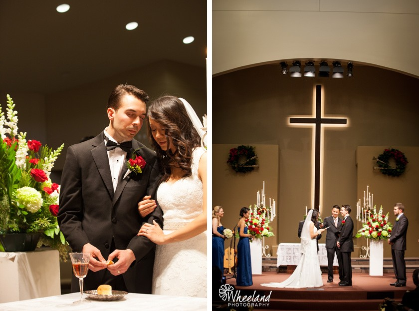 Communion and Vows at Wedding