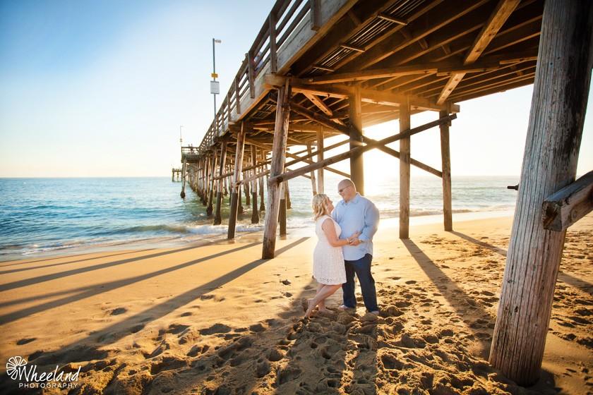 Newport Beach Pier Engagement Photos
