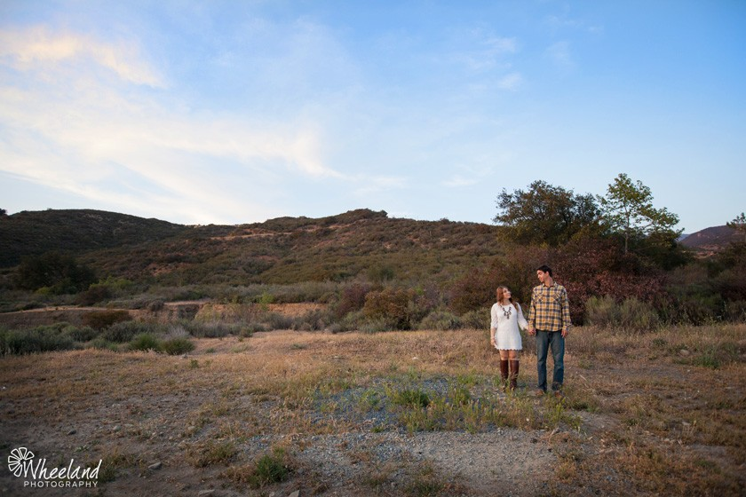 Black Star Canyon Engagement Pictures