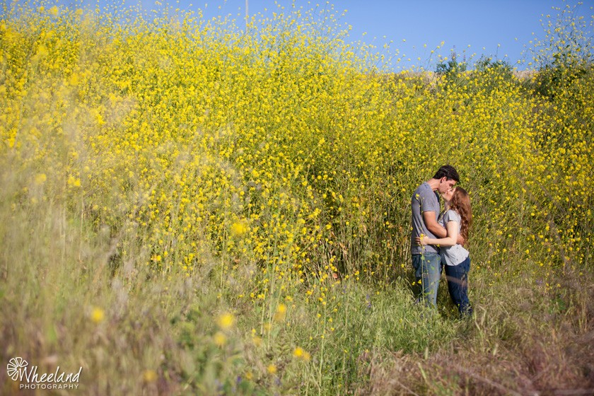 Yellow Flowers Engagement Session