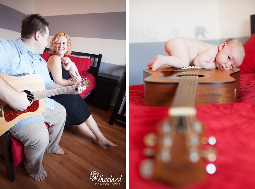 guitar newborn photos