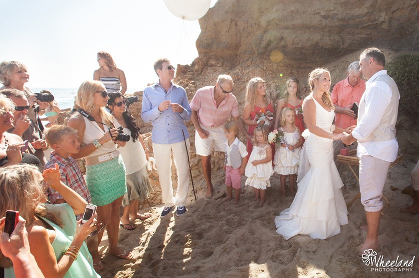 California Beach Cove Wedding Ceremony