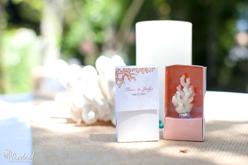 Coral Wedding Favor