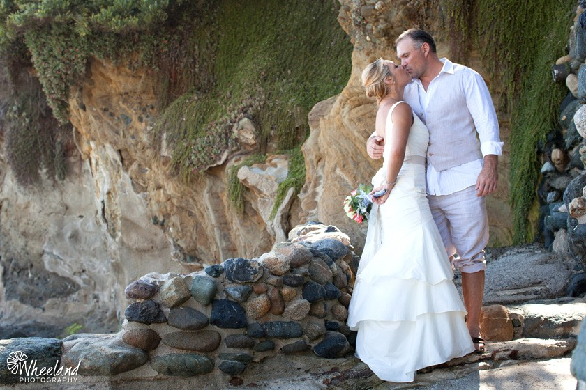 Laguna Beach Wedding Kiss