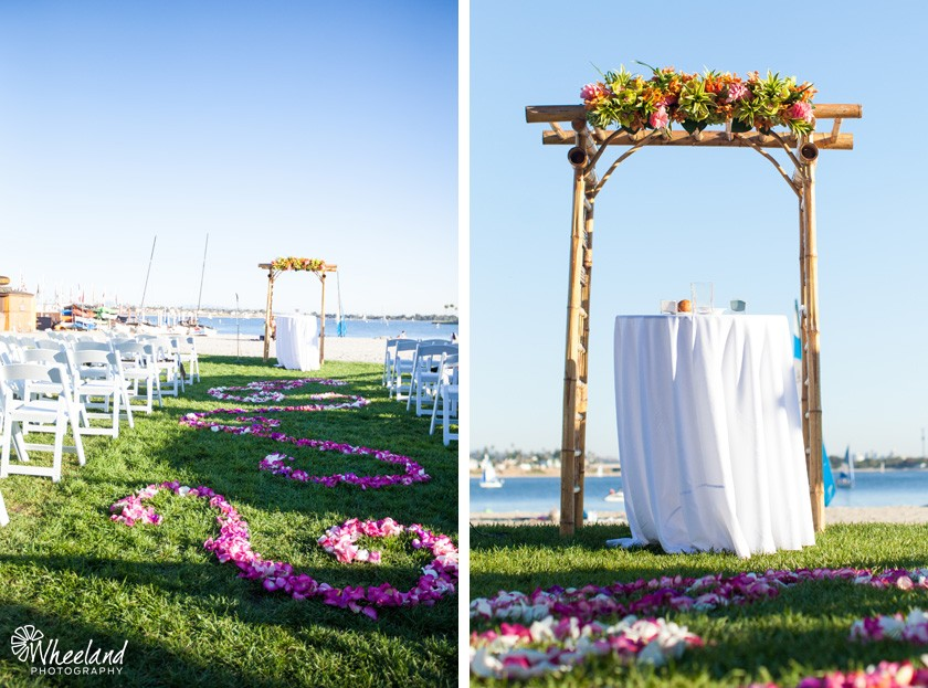 San Diego Beach Wedding Arch