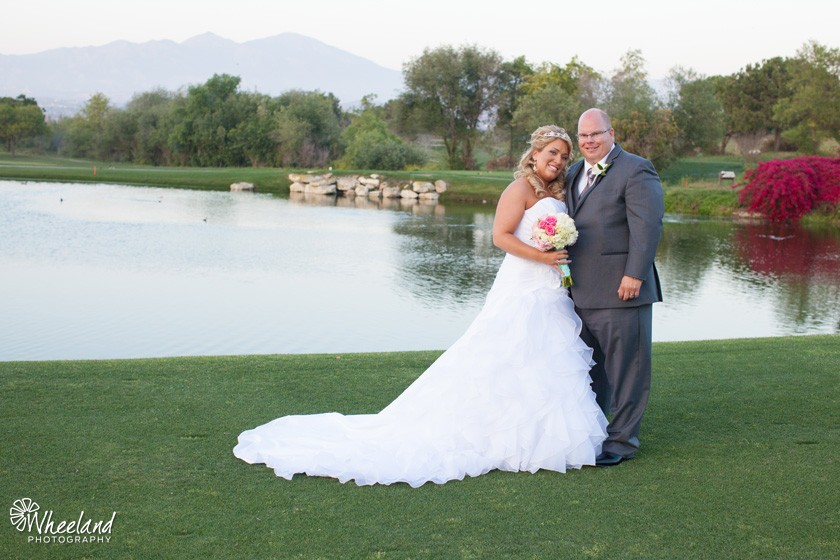 aliso viejo golf club wedding lake