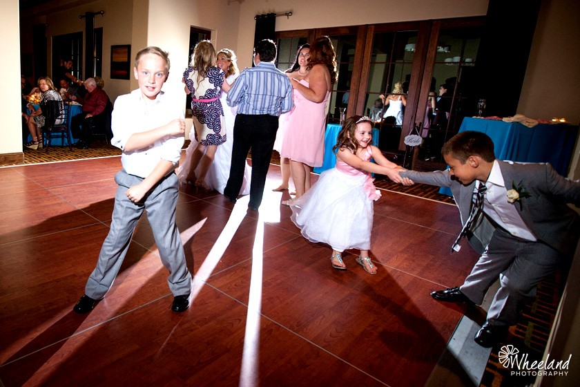 dancing kids wedding