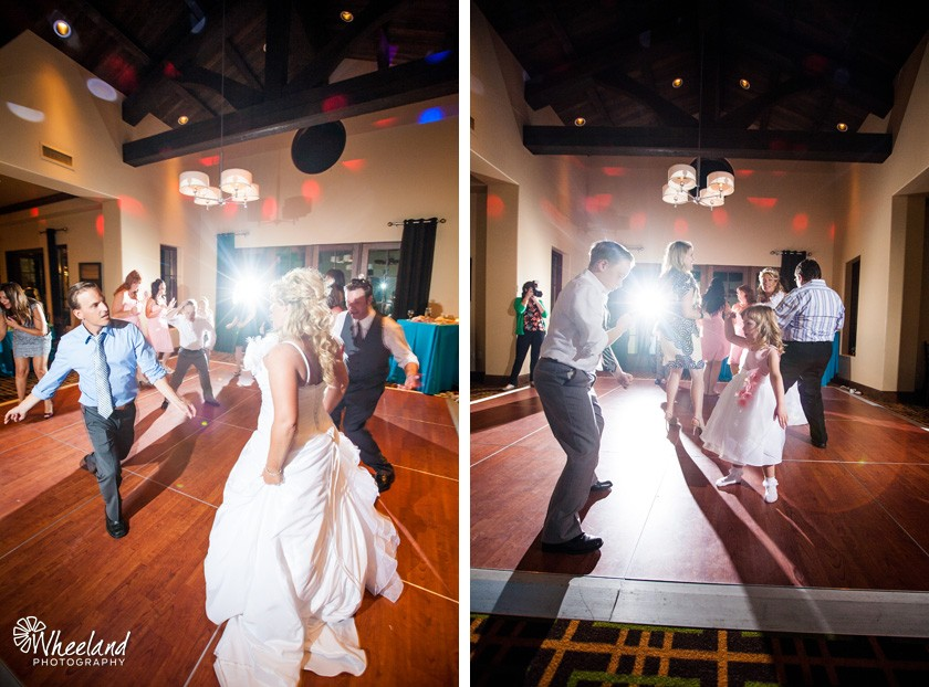 Reception dancing Aliso Viejo Country Club