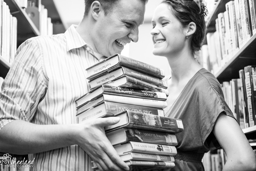Newport Beach Library Engagement Photos