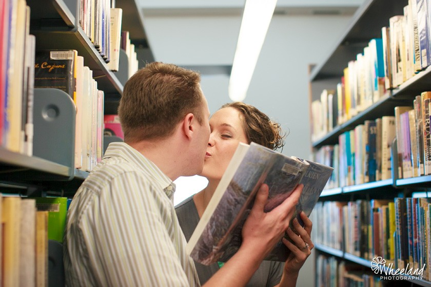 Newport Beach Library Engagement Session  - Wheeland Photography