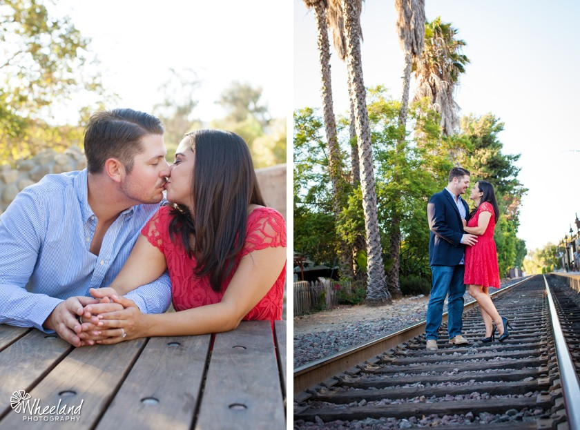 San Juan Capistrano Engagement Photos Train Tracks