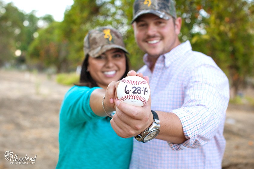 Save-the-date baseball