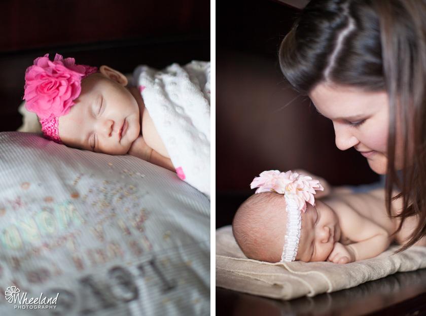 Newborn photos with mom