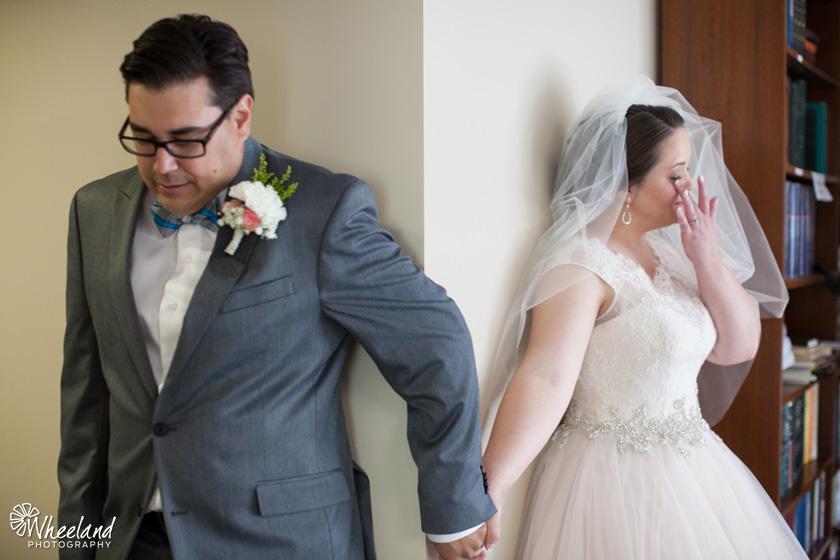 Bride and Groom pray before wedding