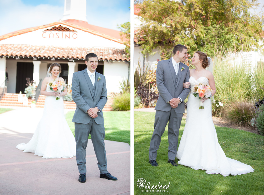Wedding First Look The Casino San Clemente
