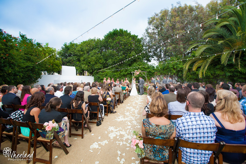 The Casino San Clemente Wedding Ceremony