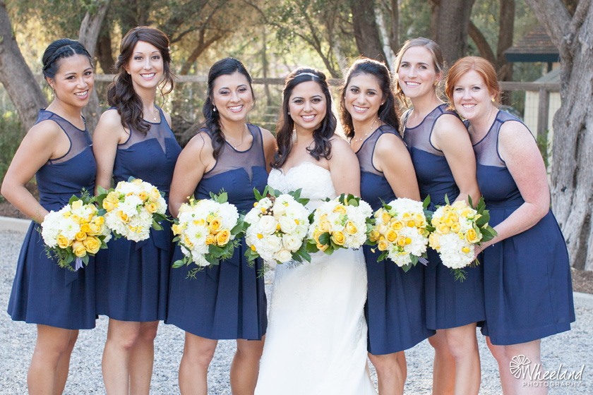Navy Blue Bridesmaide
