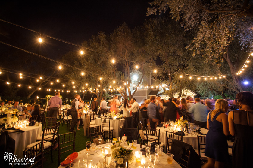 Santiago Canyon Backyard Wedding Reception