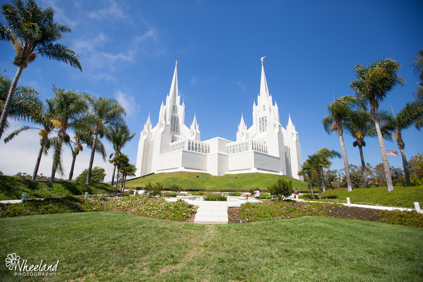 San Diego Latter-Day Saints Temple Wedding