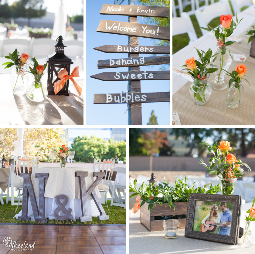 Outdoor Wedding Peach details