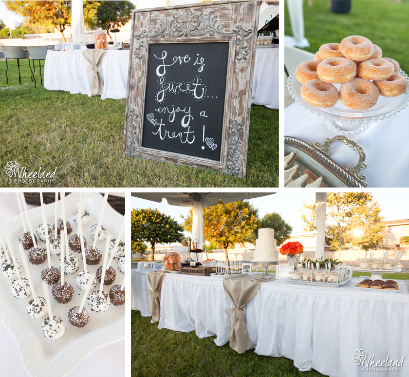 Outdoor Reception Dessert Table