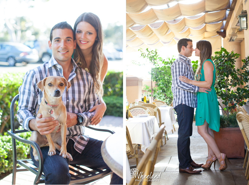 Engagement Photos with dog Newport Beach