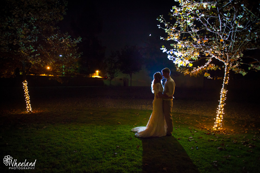 Orange County Night Wedding Photo
