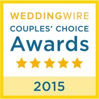 WeddingWire's Couples Choice Award 2015