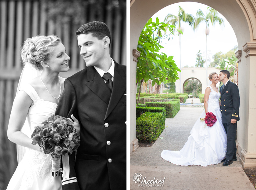 San Diego Balboa Park Wedding Armed Forces Navy