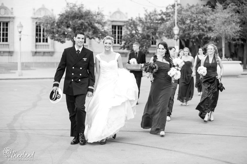 San Diego Balboa Park Wedding Armed Forces Navy
