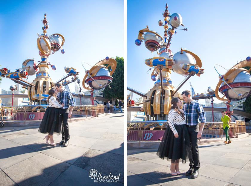 Disneyland Engagement Photos Tomorrowland Peter Pan