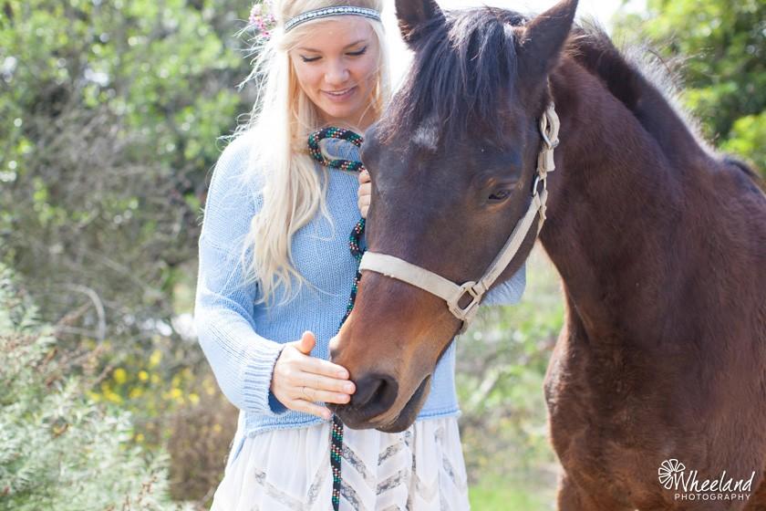 Orange County Bohemian Photoshoot with Horse