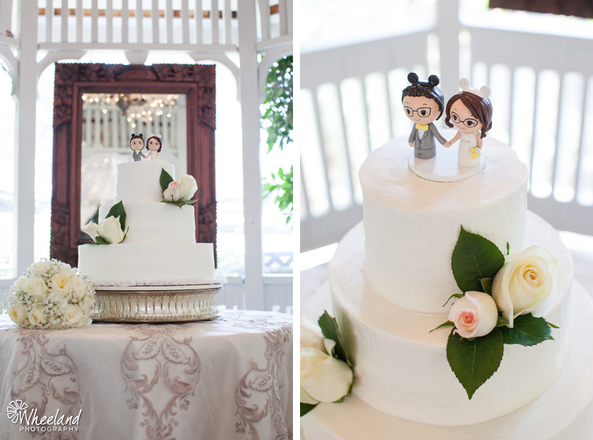 Laguna Beach Wedding Tivoli Terrace Disney Cake Toppers