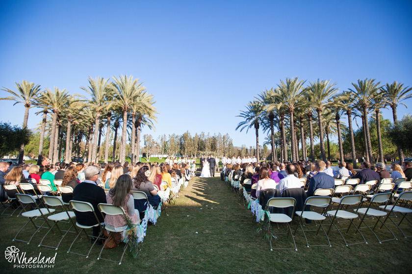 Rancho Santa Margarita Gold White Wedding