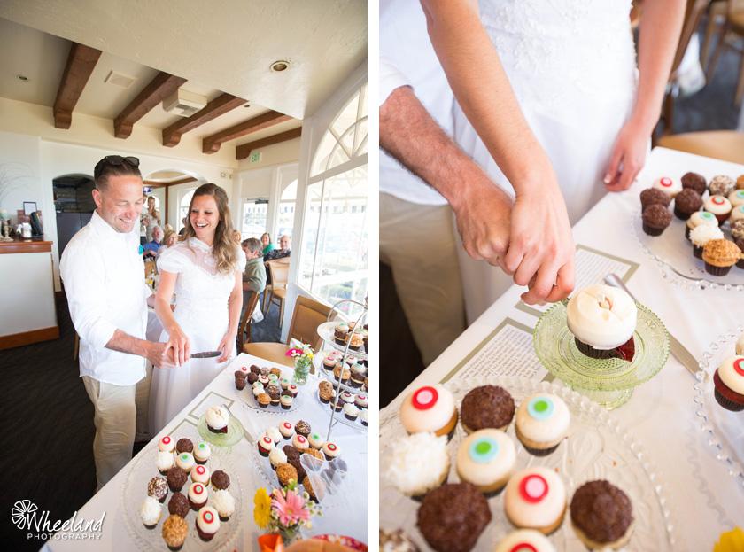 Laguna Beach Las Brisas Morning Wedding Sprinkles Cupcakes
