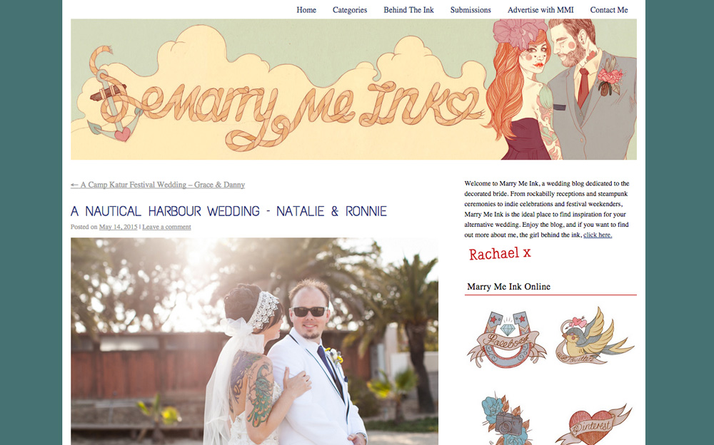 Marry Me Ink Wedding Blog Feature