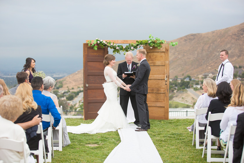 Outdoor DIY backyard wedding Orange County