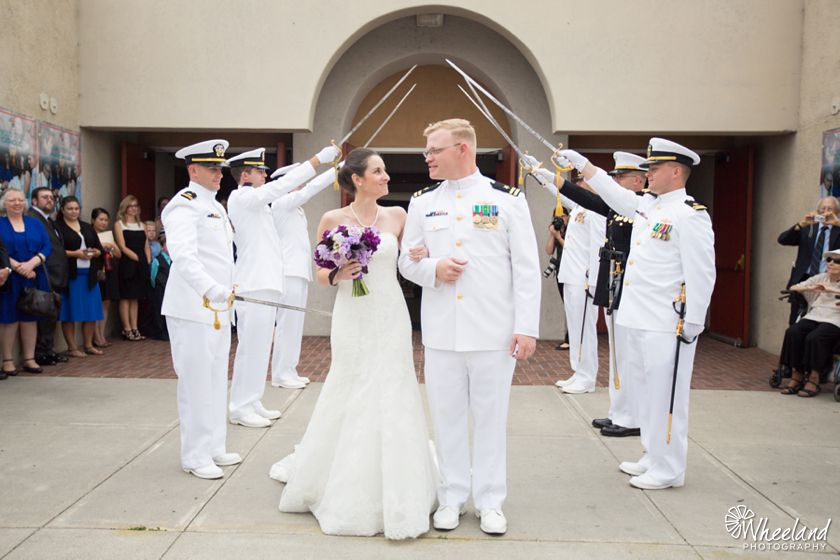 Balboa Bay Yacht Club Wedding Purple