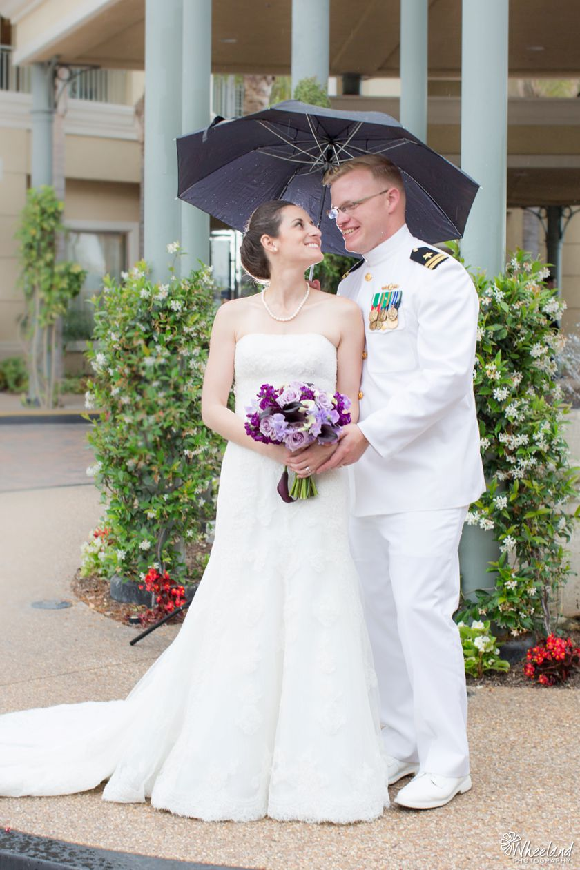 Balboa Bay Resort Wedding Rain