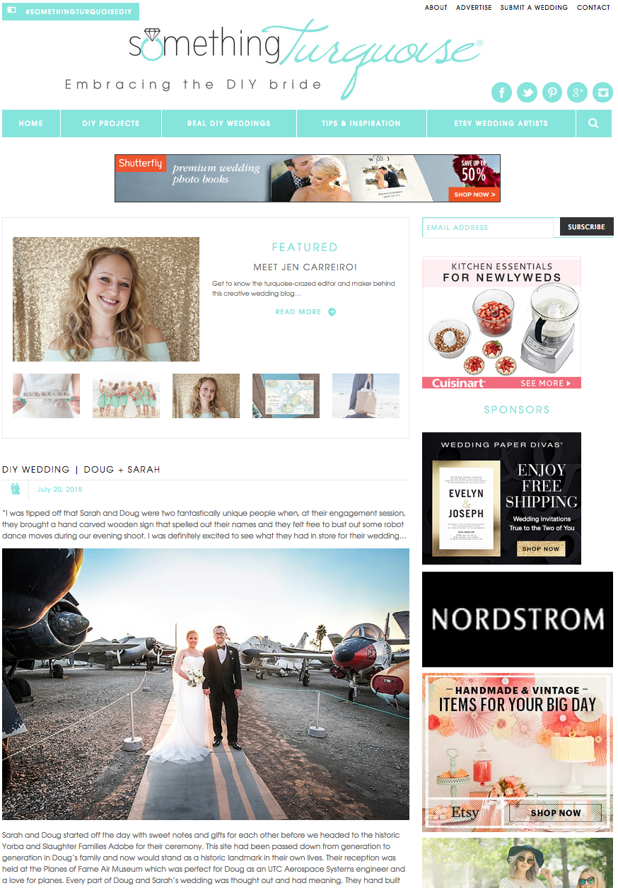 Featured on Something Turquoise wedding blog