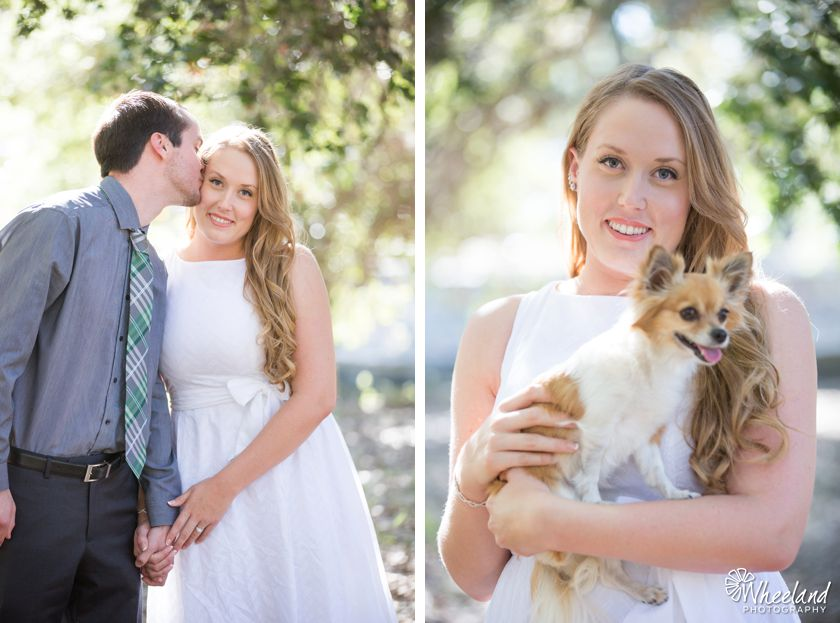 Engagement Photos with dog at irvine regional park