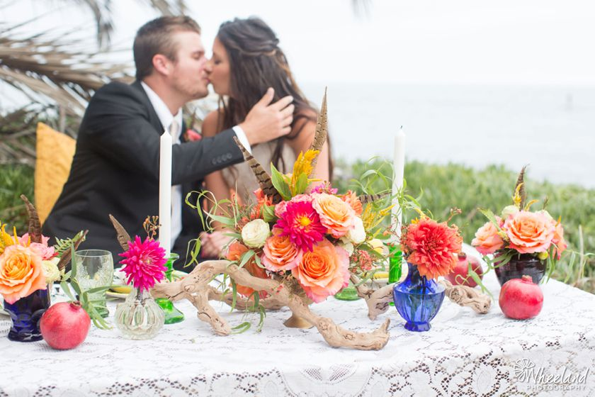 Boho Beach Wedding Photos